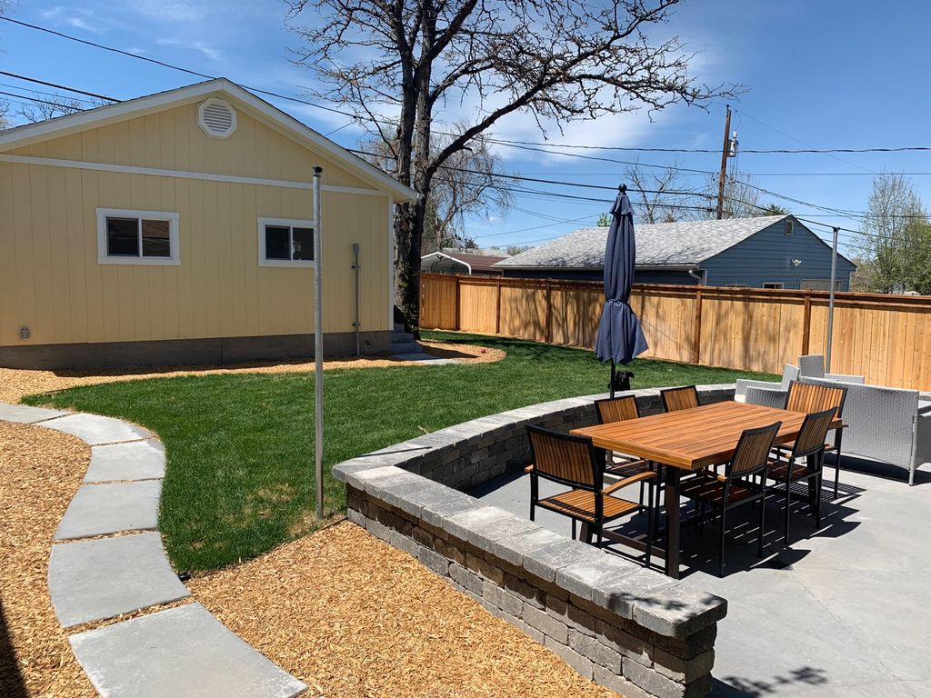 Complete yard, fence, and patio