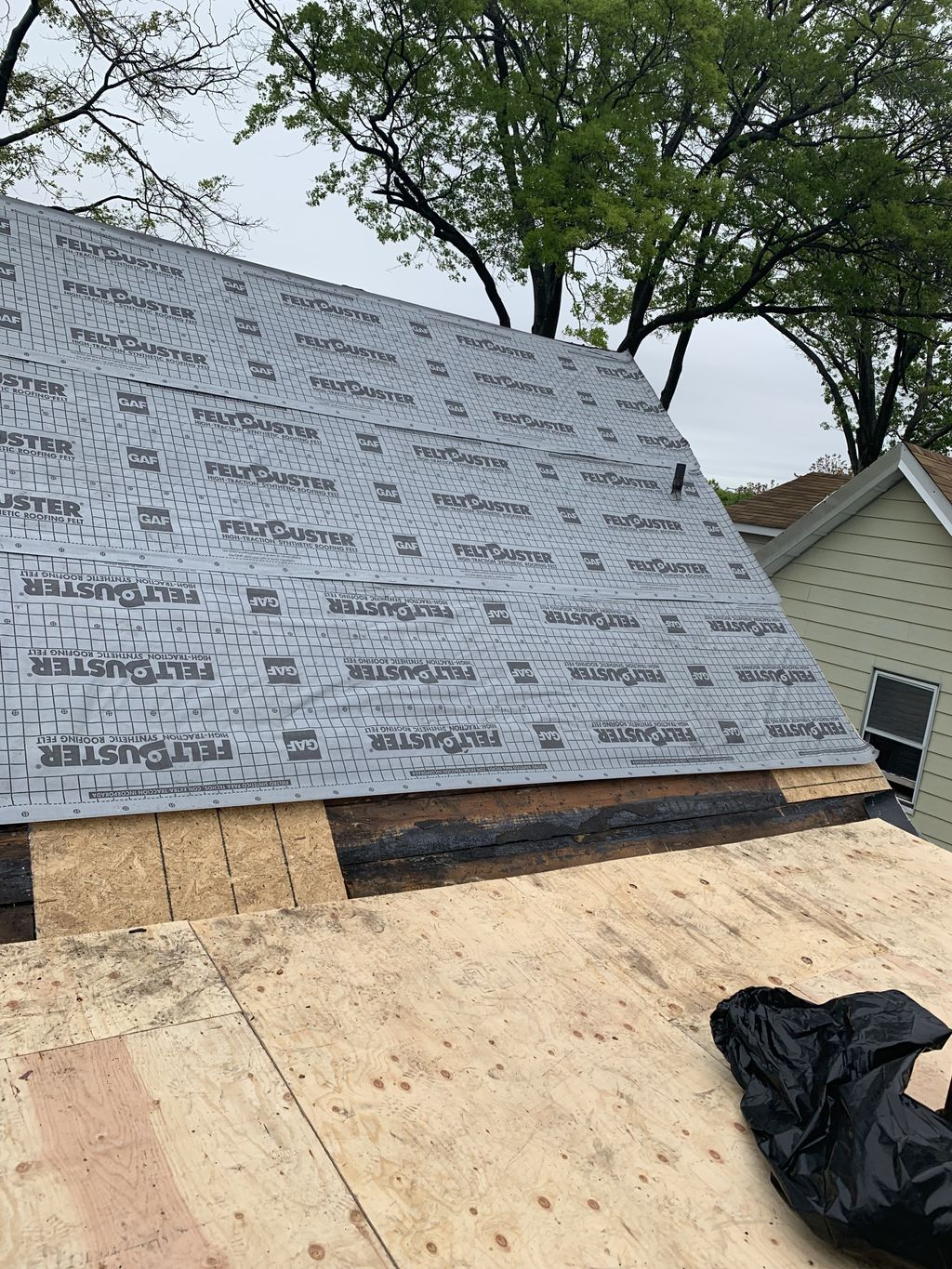 Roof repairs and new roof install examples