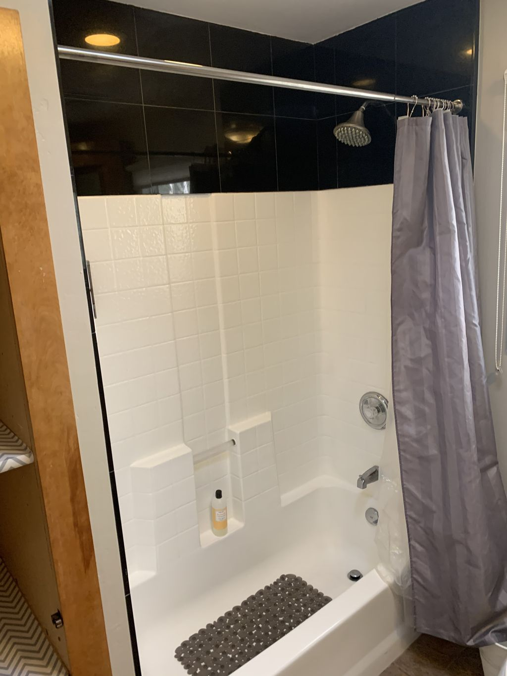 Partial bathroom remodel Before and after