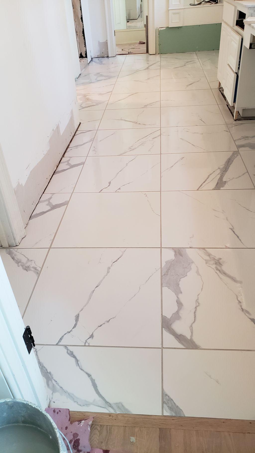 Shower and floor