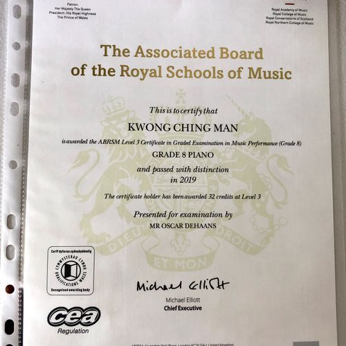 ABRSM Grade 8 piano in the year of 2019