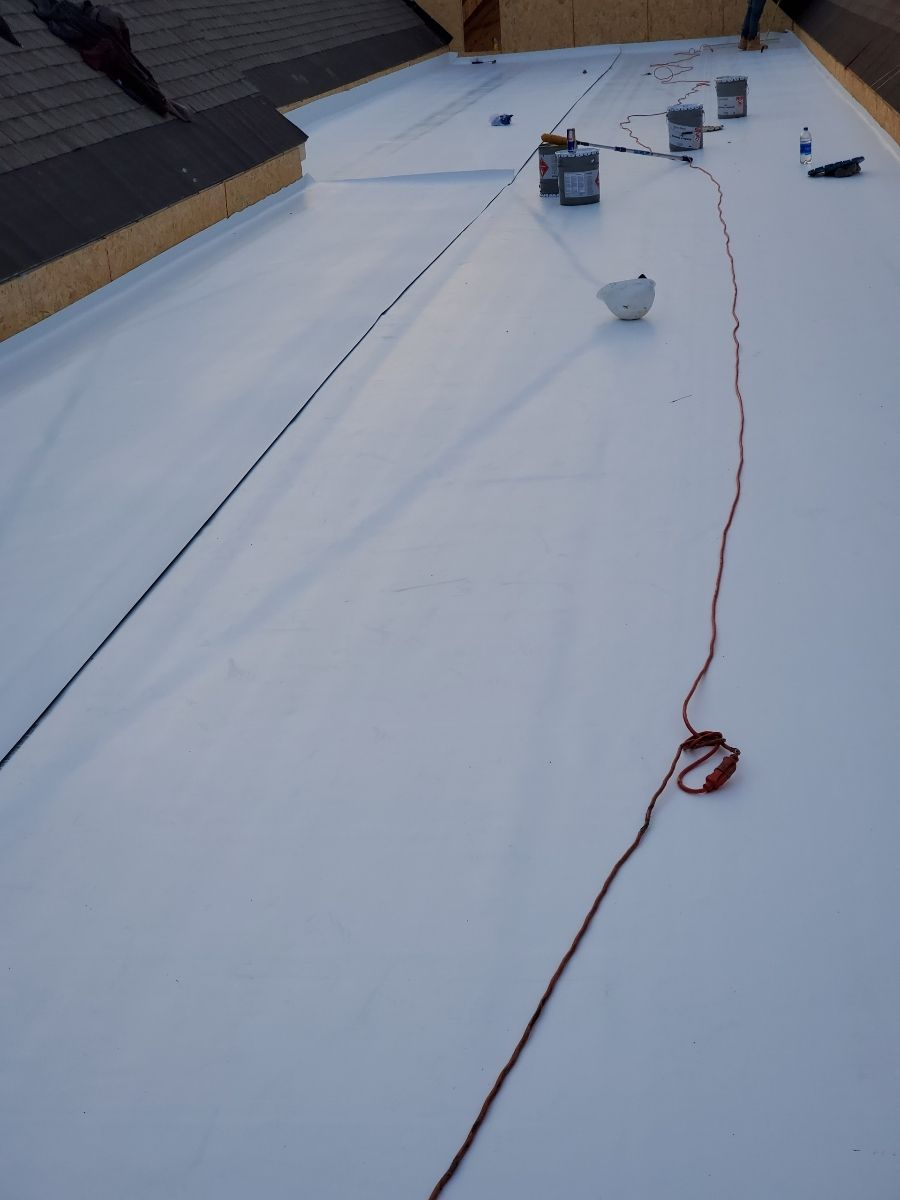 New construction Thermo plastic TPO Installation