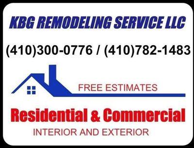 Avatar for KBG Remodeling Service LLC Columbia, MD Thumbtack