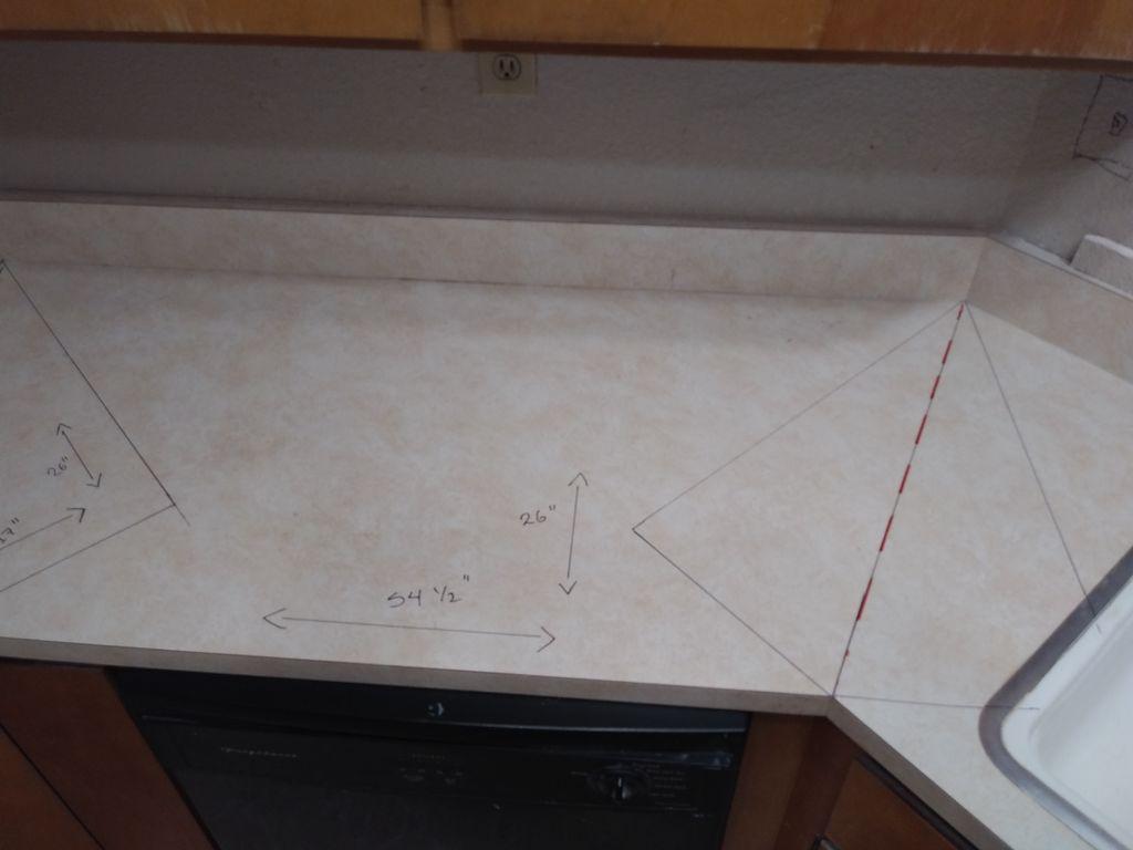 counter top installation