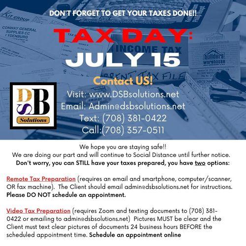 Tax Day 2020: July 15