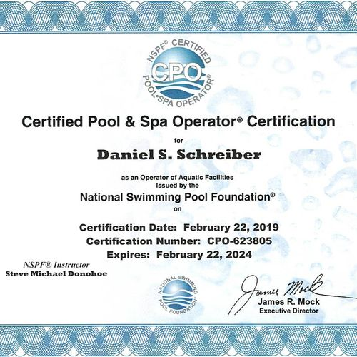 CPO Certification is the world's leading verifiable pool and spa training credential required for maintaining many commercial facilities.