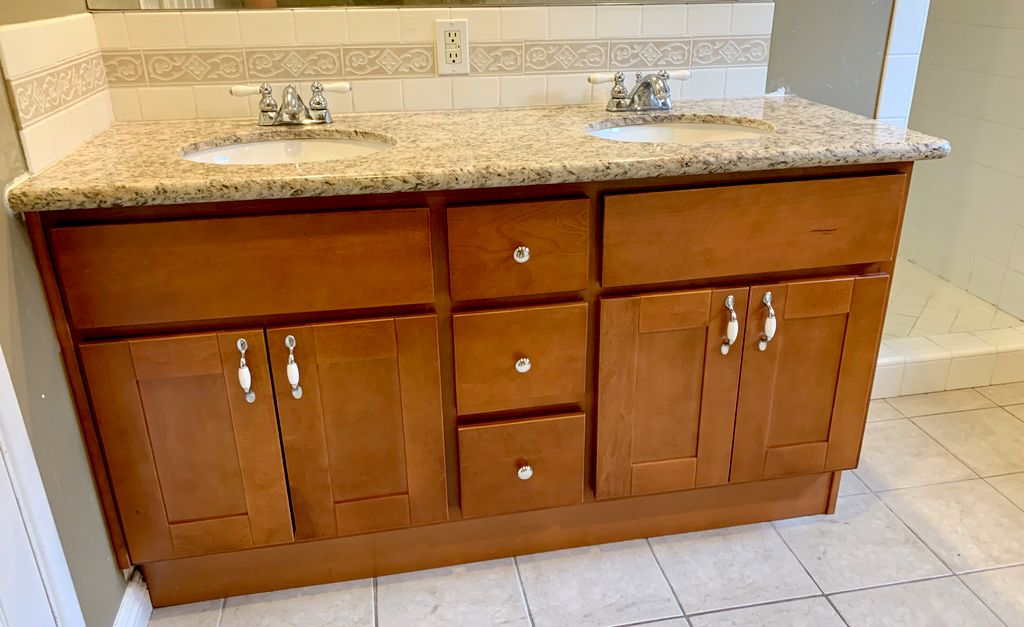 Cabinetry in Bathroom - Before & After