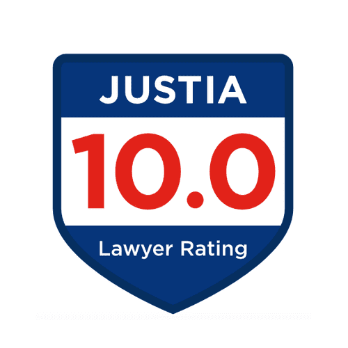 Justia.com 10 out of 10 Rating, developed by ratings by other attorneys.