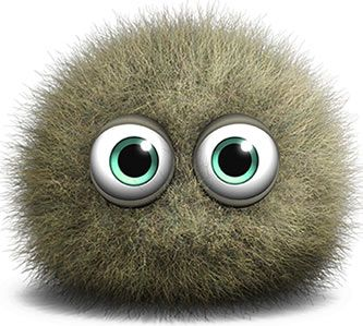 I'm a mold spore. I'm cute but I make you sick and I eat your home.