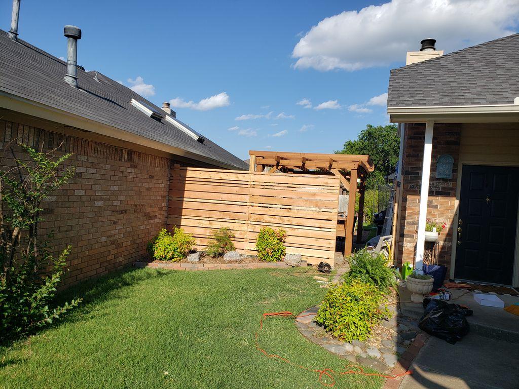 Pergola and fence installation