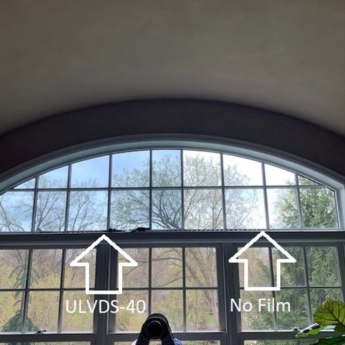 ULVDS-40, our sprectrally selective film, filters out heat and glare, while providing a neutral, non-reflective appearance