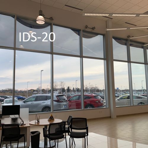 Window Film Installation we completed at a local car dealership