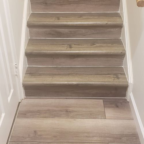 steps done like floor to match