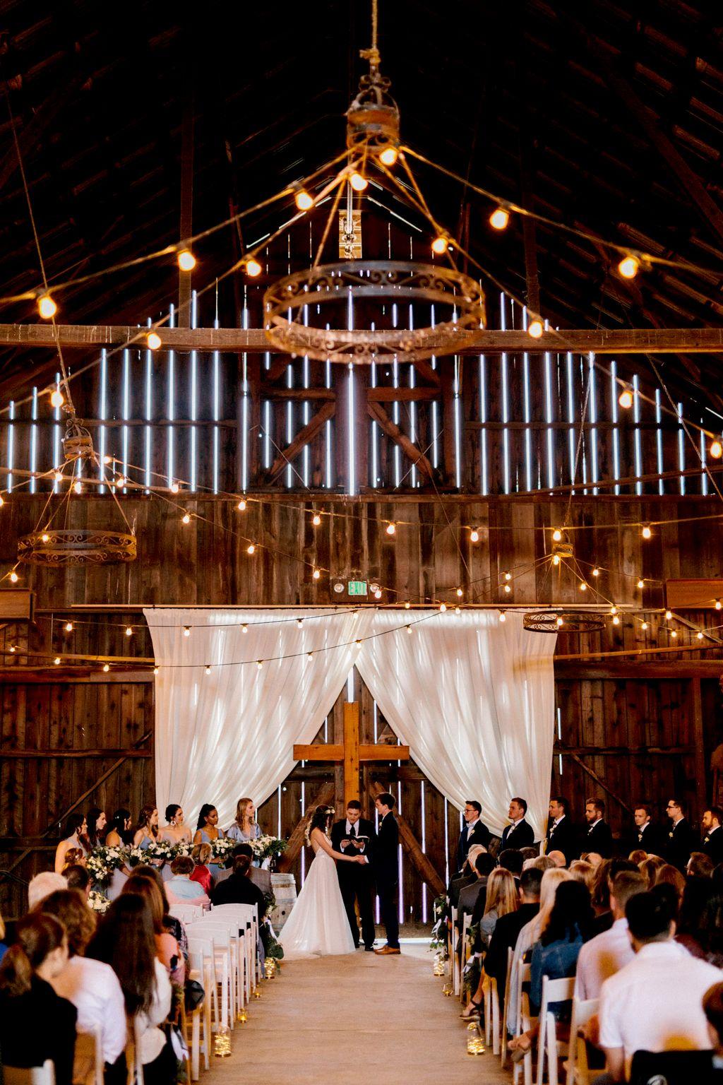 Rainy Barn Wedding