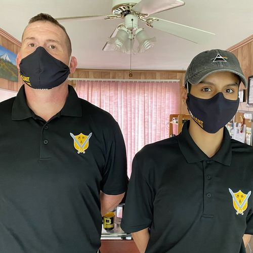 We practice social distancing and we wear gloves and a mask when entering our valued customers home.