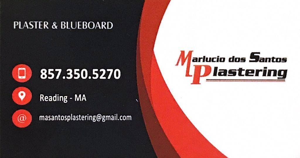 Marlucio Dos Santos plastering