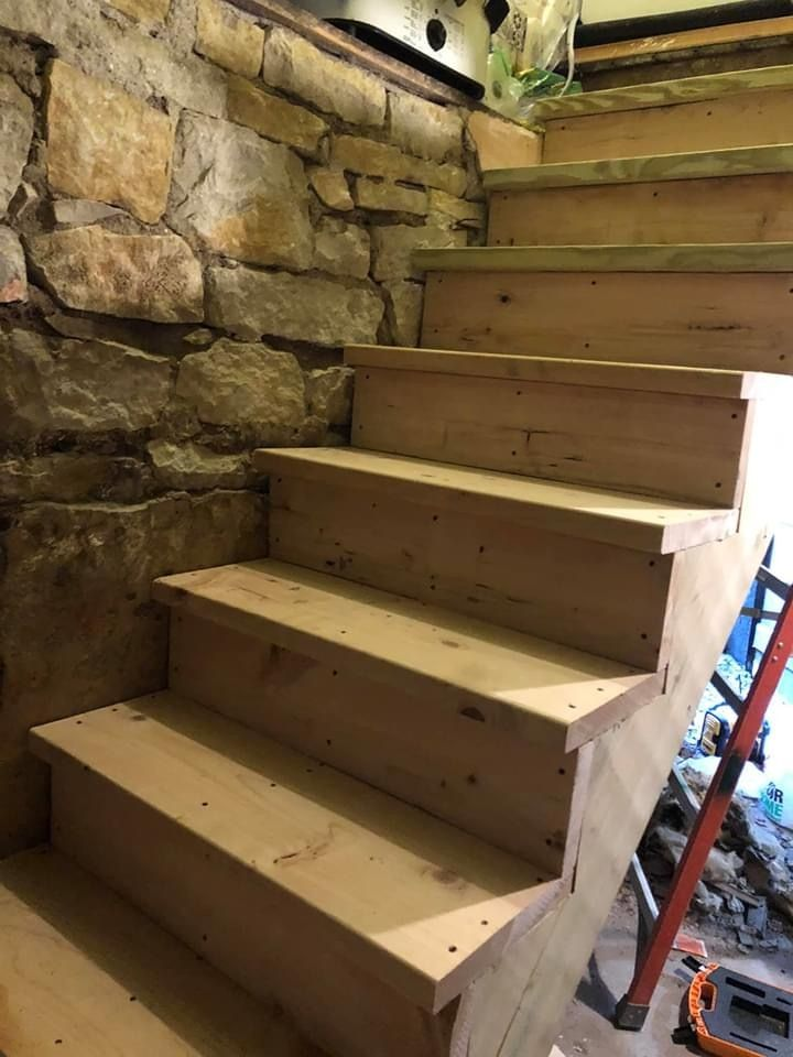 Stair rebuilt