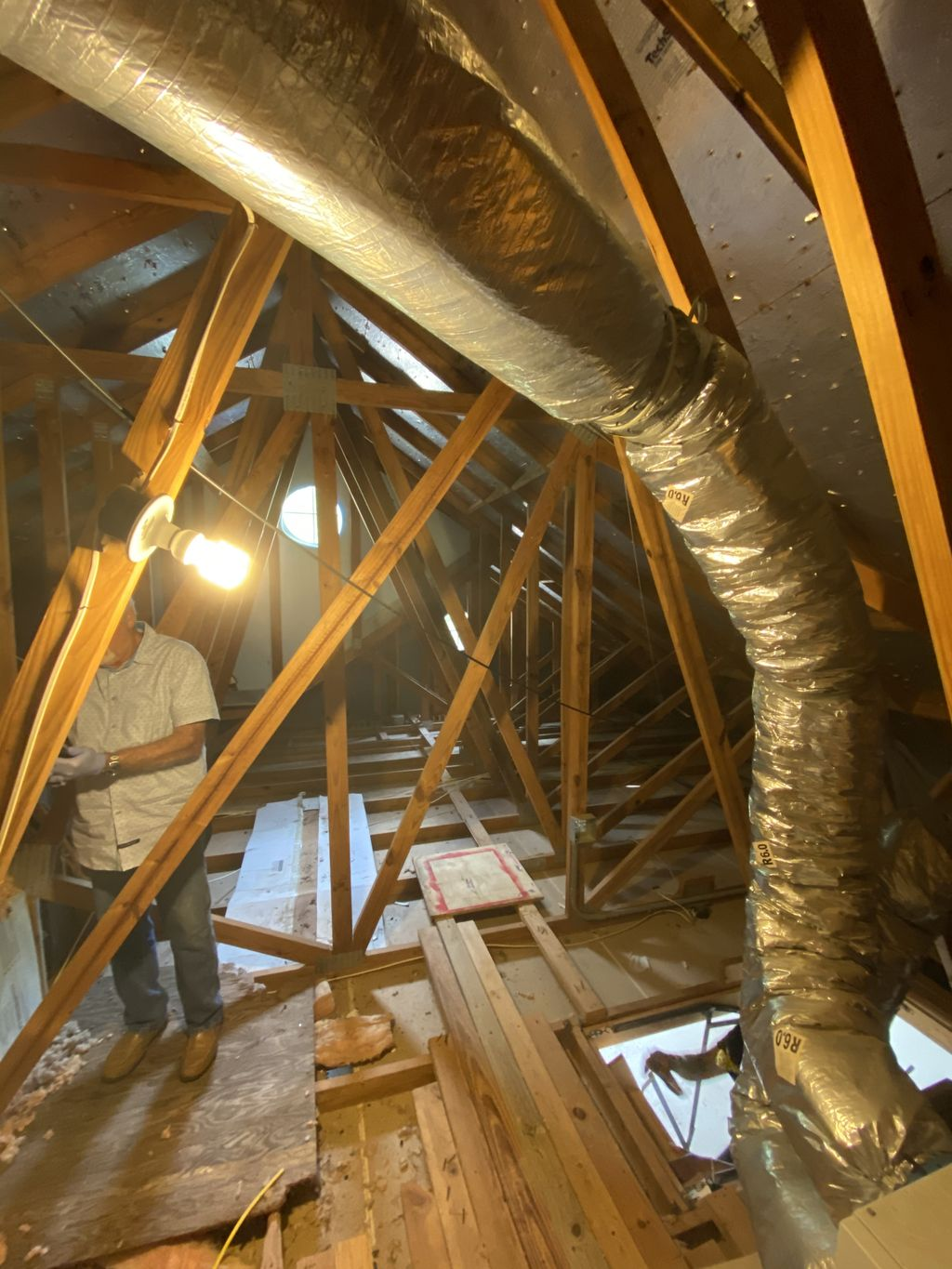 Turning an attic space into office