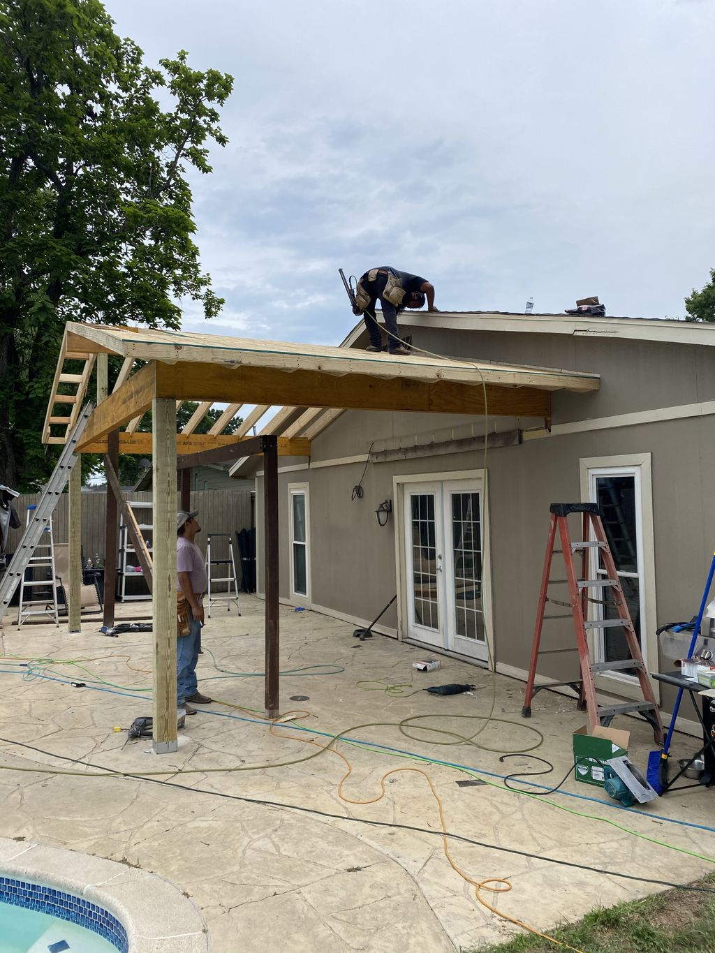 Patio cover - over sized