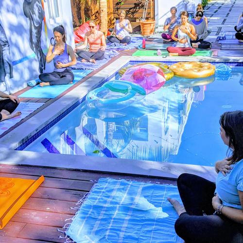 Bachelorette Yoga in Wynwood