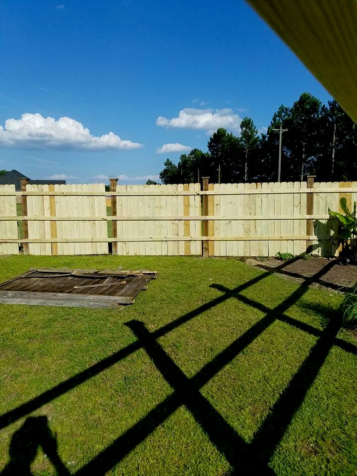 wood fence picture frame fence