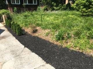 Black mulch install