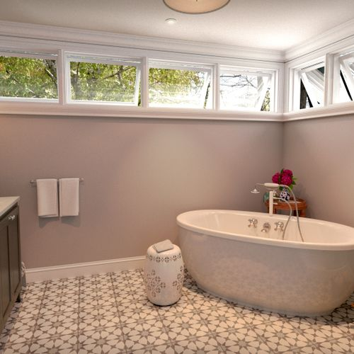 Master Bath design in Center City