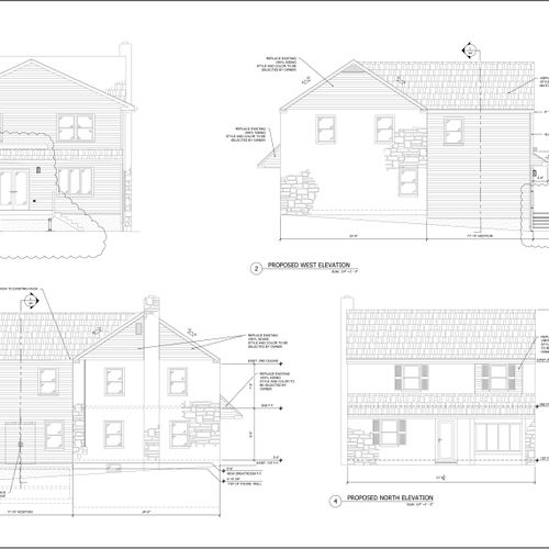 Elevations of addition in Bryn Mawr