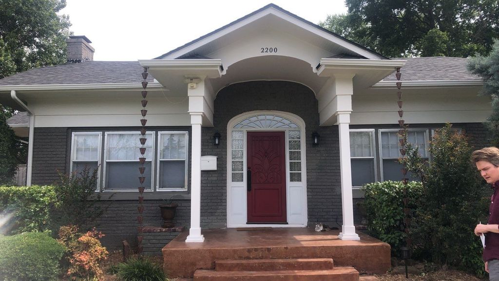 Exterior painting with repairs