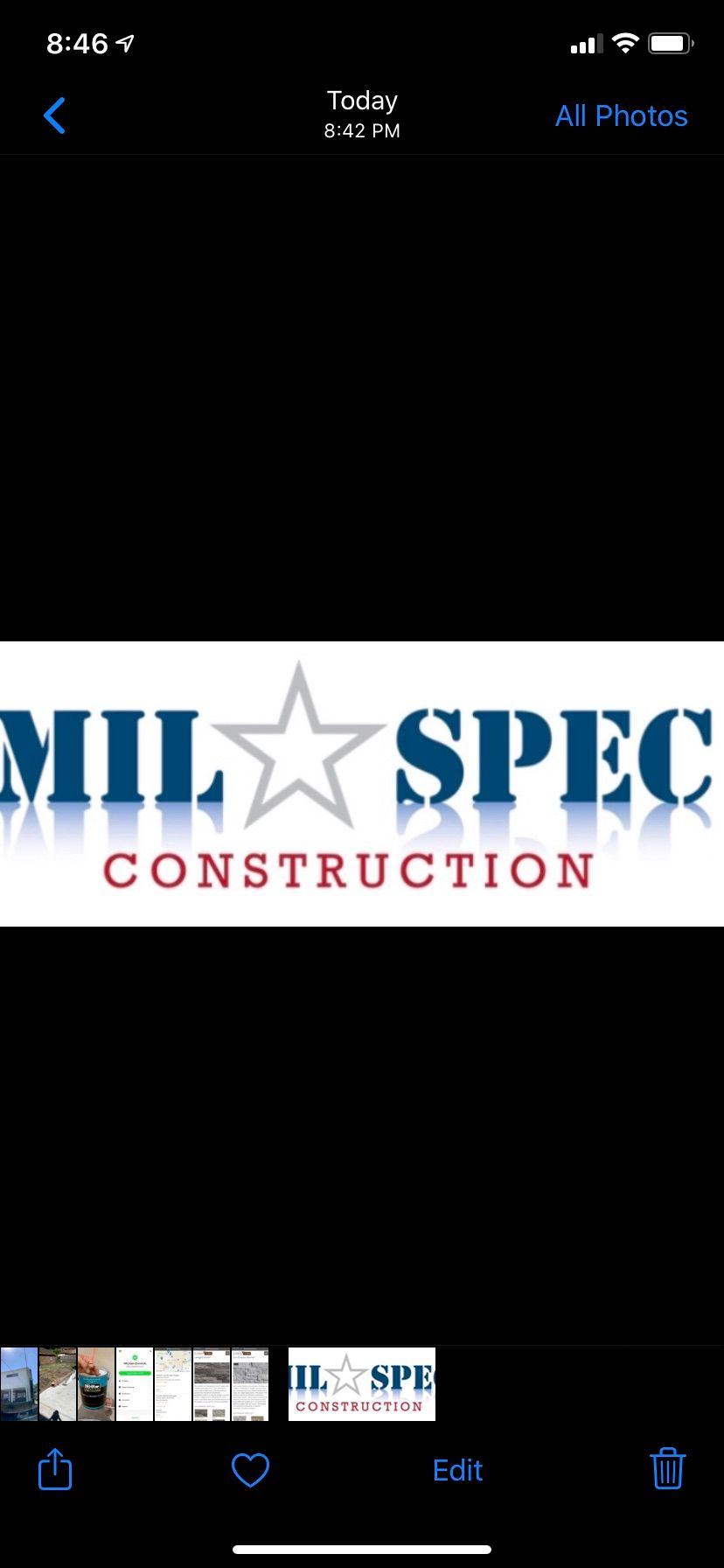 MIL-SPEC Construction