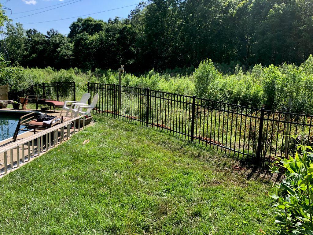 Black Aluminum Fence Install