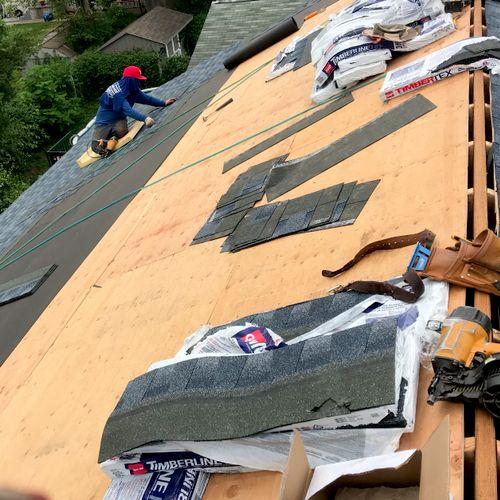 Install New Roof Shingles