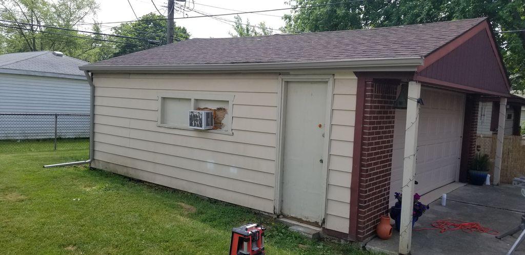 Garage fascia and gutter install