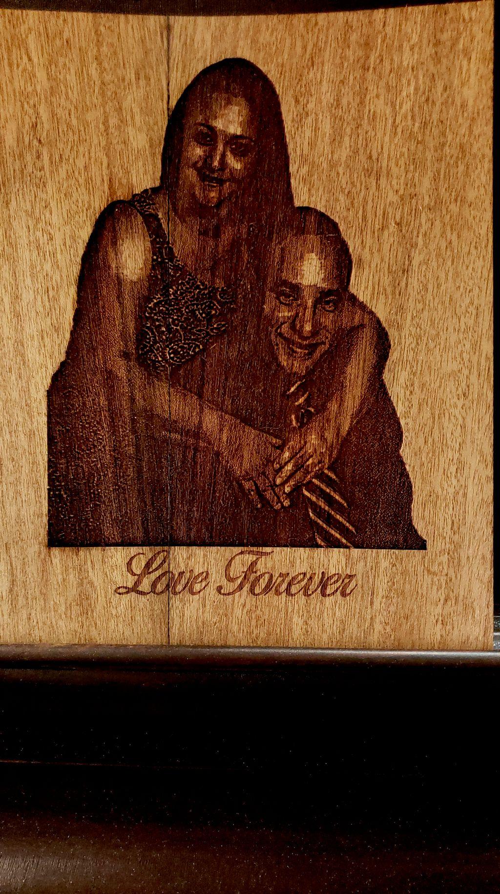 Wood Lasered Photo