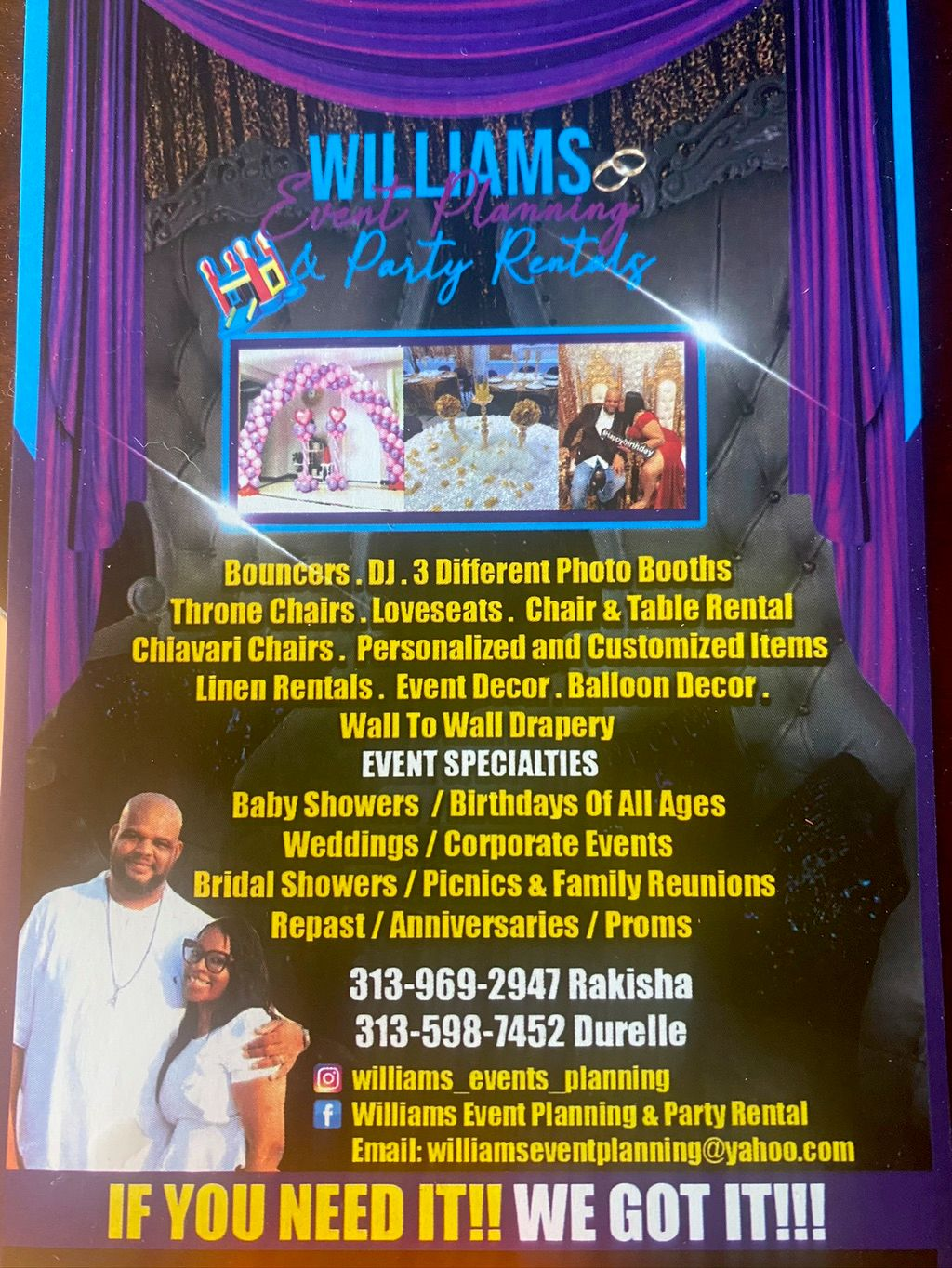 Williams Event Planning & Party Rentals