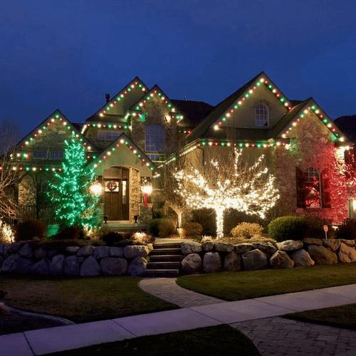 Tree and House Lighting, Salem