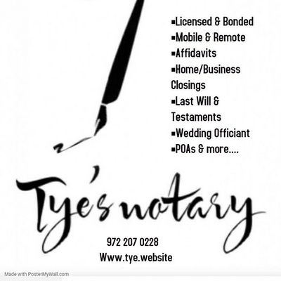 Avatar for Tye's Notary & Consulting