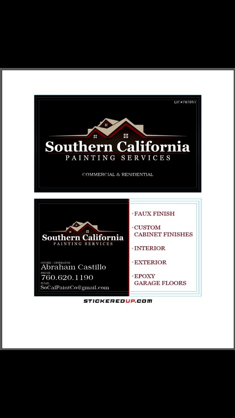 Southern California pro painting