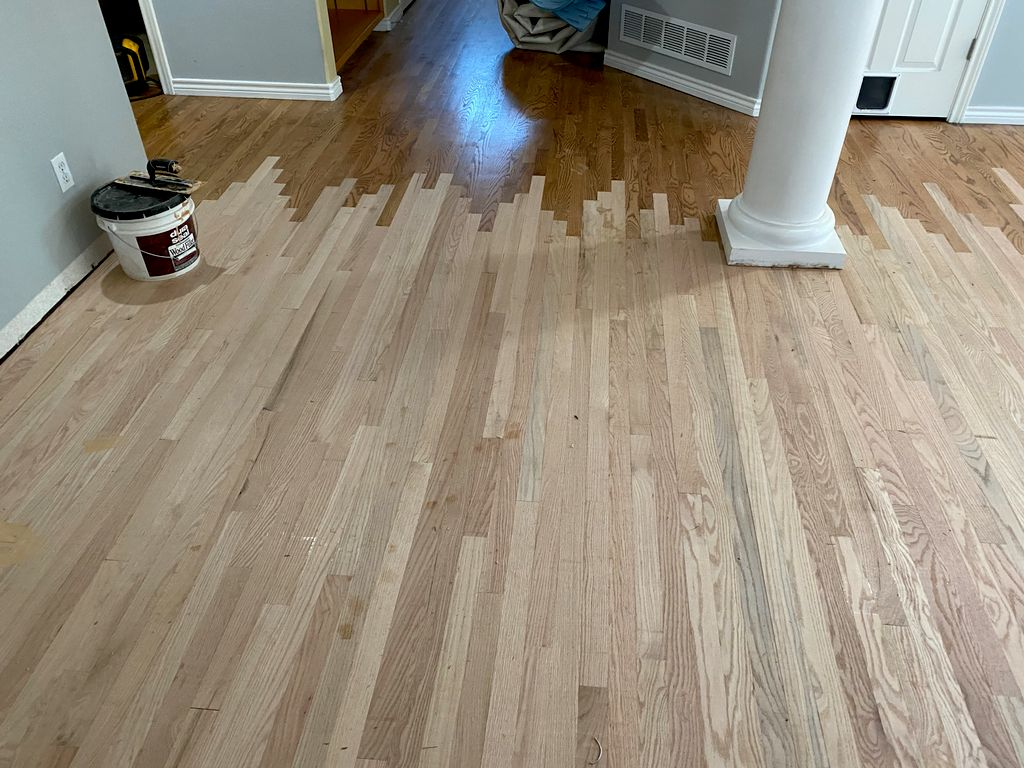 Sand and finish with Custom Stain