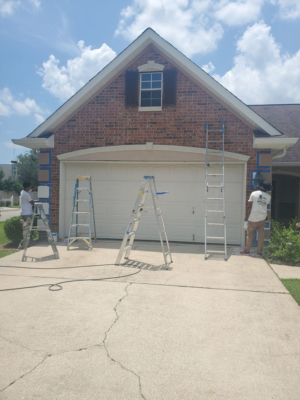 stucco painting new color