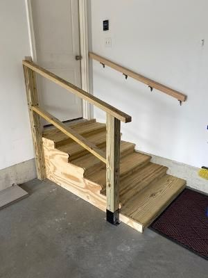 New stairs & railing for Handicap accessibility