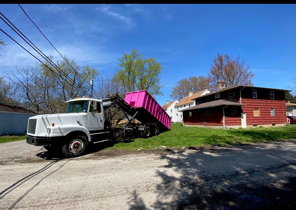 Pink Dumpster Rentals, Demolition, and Hauling