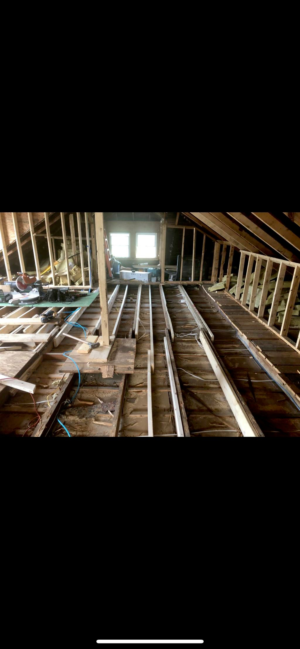 Dormer addition and ongoing inside renovation