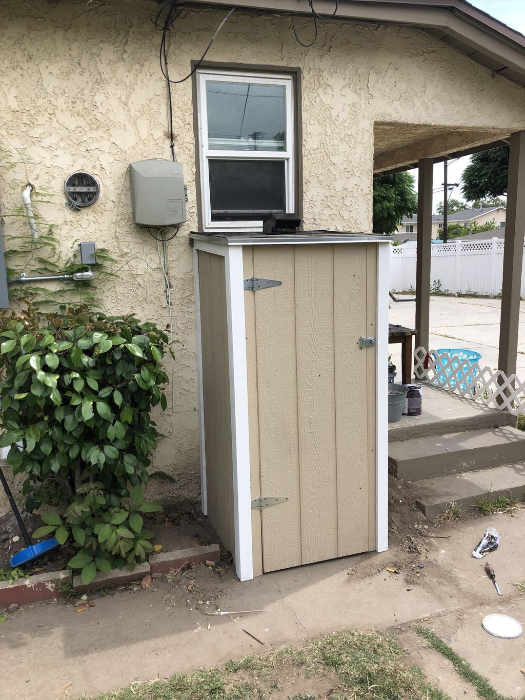 Shed for water heater