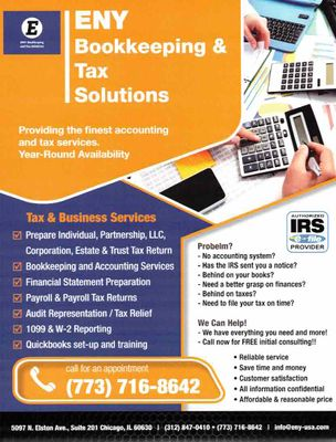 Avatar for ENY BOOKKEEPING AND TAX SOLUTIONS