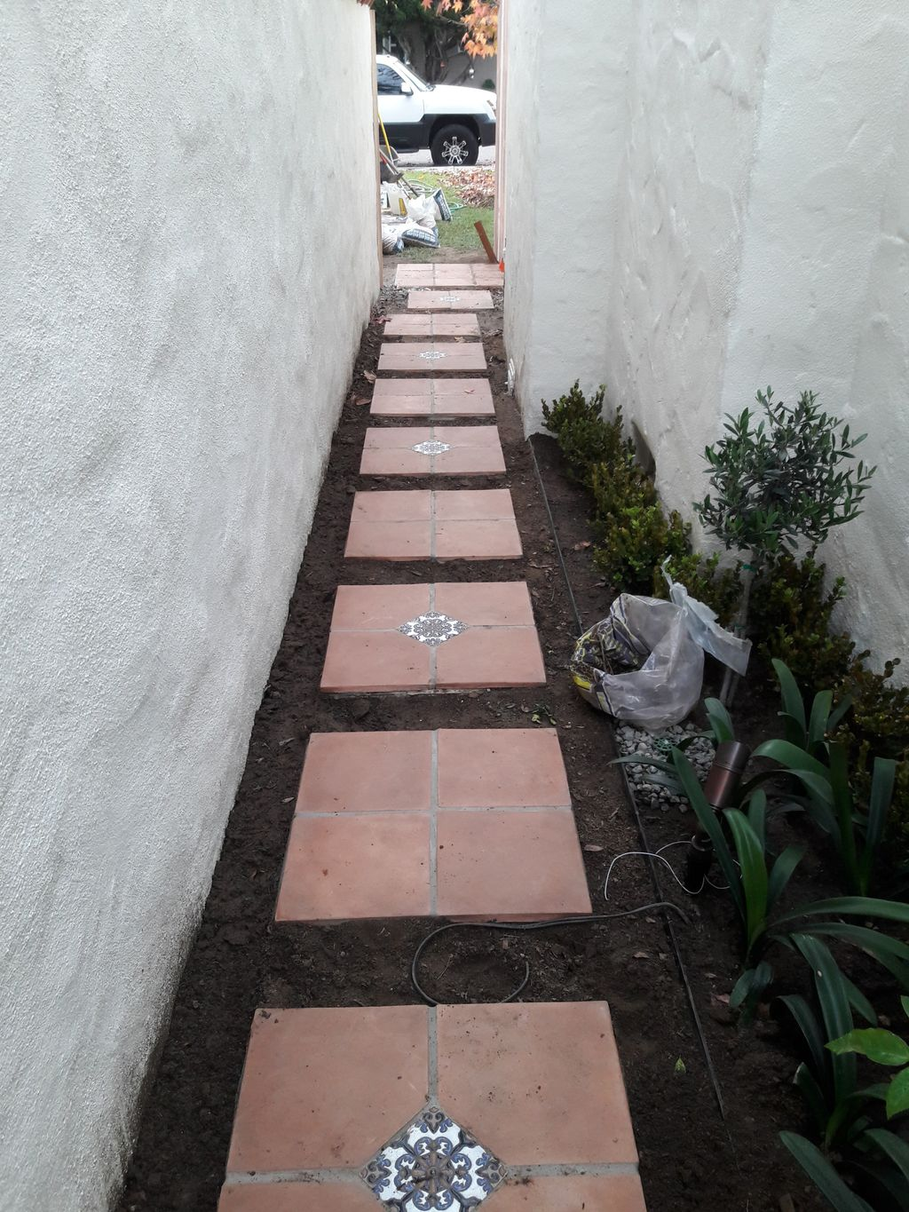 Back entry pavers and gravel