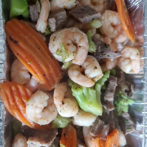 Beef and Shrimp Dish