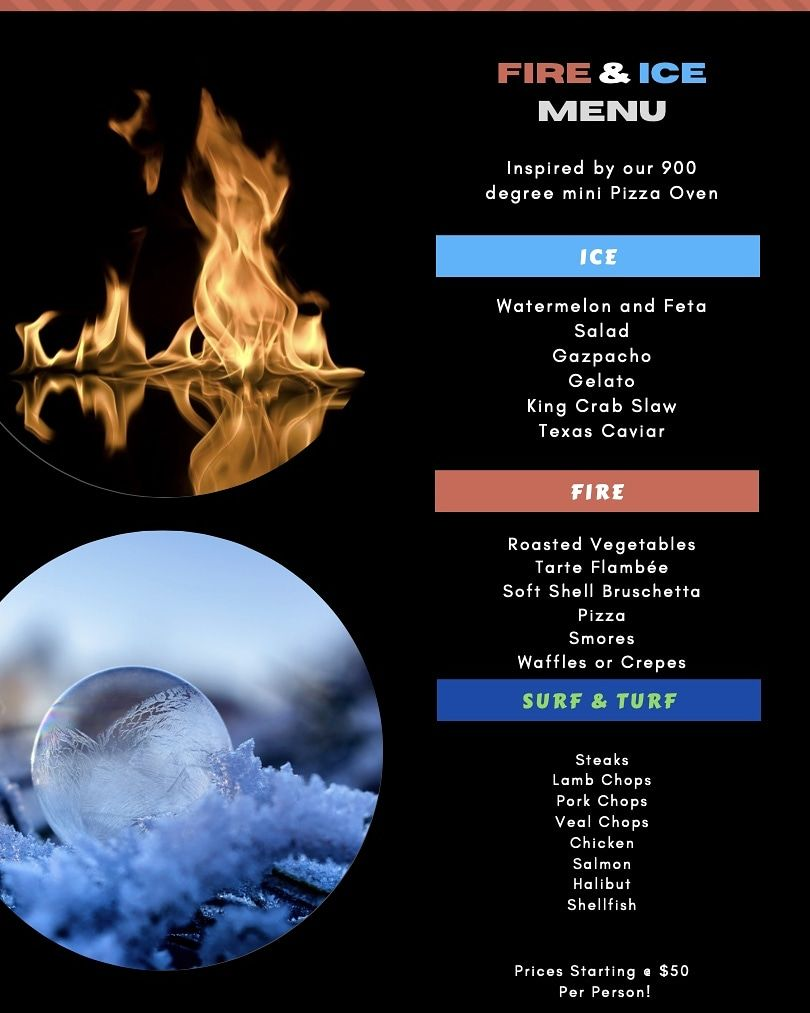 Fire and Ice Menu