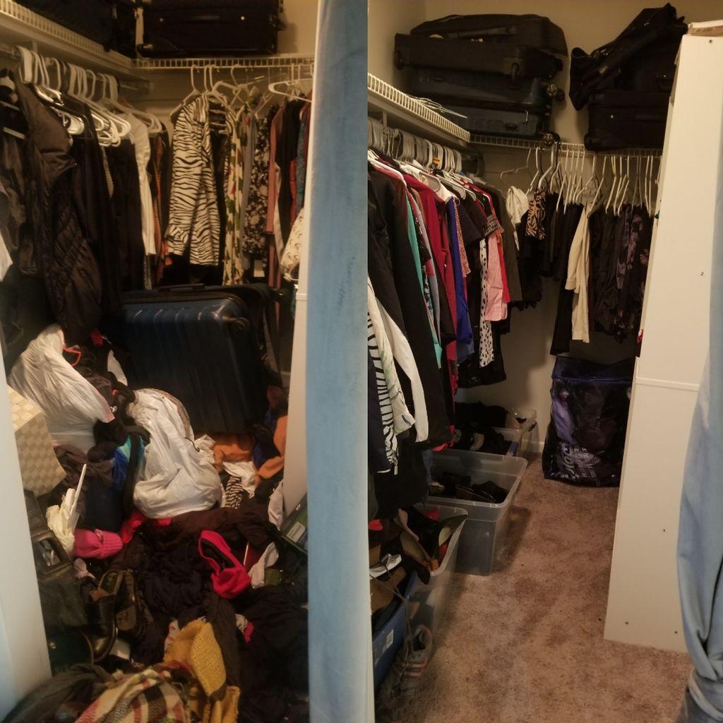 Closet and bedroom organization