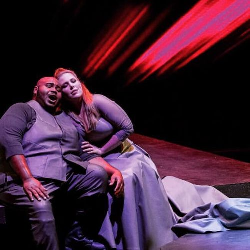 Performance photo as Sieglinde in Die Walküre at the Opera National de Bordeaux 2019